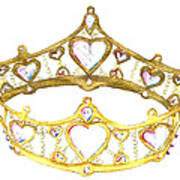 Queen Of Hearts Crown Tiara By Kristie Hubler Art Print