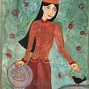 Queen Of Pentacles Art Print