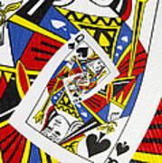 Queen Of Spades Collage Art Print