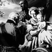 Queen Victoria & Son Art Print