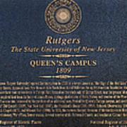 Queen's Campus - Commemorative Plaque Art Print
