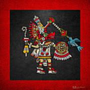 Quetzalcoatl In Human Warrior Form - Codex Magliabechiano Art Print