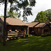 Quiet Cabin On A Hill Art Print