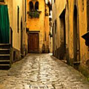 Quiet Lane In Tuscany 1 Art Print