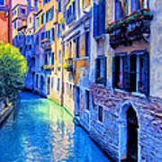 Quiet Morning In Venice Art Print