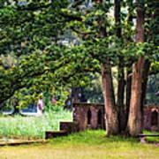 Quiet Park Corner. De Haar Castle Art Print