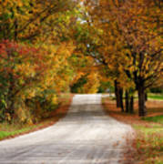 Quiet Vermont Backroad Art Print