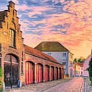 Quiet Village Sunset Art Print
