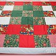Quilt Christmas Blocks Art Print by Barbara Griffin