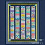 Quilt Painting With Digital Border 2 Art Print