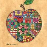 Quilted Apple Art Print