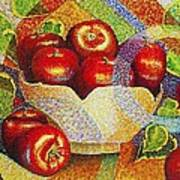 quilted Apples Art Print