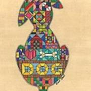Quilted Dog Art Print