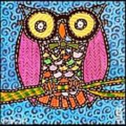 Quilted Judge Owl Art Print