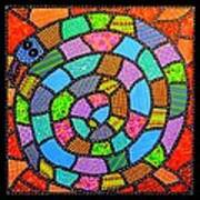 Quilted Spiral Snake Art Print