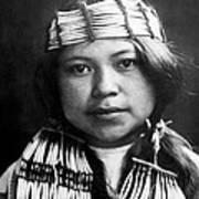 Quinault Indian Girl Circa 1913 Art Print