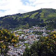 Quito From El Panecillo Art Print