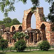 Qutab Minar Ruins Art Print