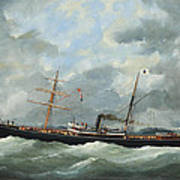 R. Bell And Co.s Steamship Bothal In A Heavy Swell Art Print