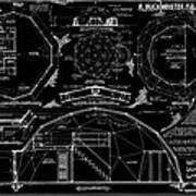 R. Buckminster Fuller Geodesic Dome Home Art Print