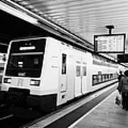 R2 Rodalies De Catalunya Train Speeding Through Passeig De Gracia Underground Main Line Train Statio Art Print