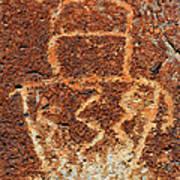 Shaman Petroglyph C Art Print