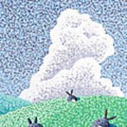 Rabbits At Rest Art Print