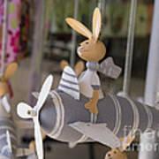 Rabbits Can Fly Art Print