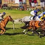 Race 6 - Del Mar Horse Race Art Print