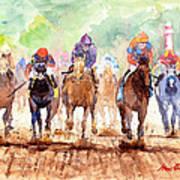 Race Day Art Print