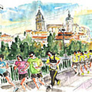 Race In Salamanca Art Print
