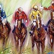 Irish Racehorses Available As A Signed And Numbered Print See Www.pixi-.com Art Print