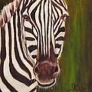 Racer, Zebra Art Print