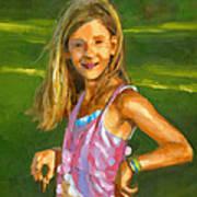 Rachel With Cookie Art Print