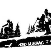 Racing Over The Ski Jump Art Print