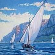 Racing Tavolara Art Print