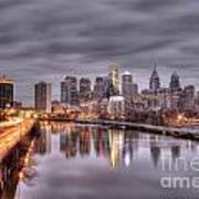 Racing To The City Lights - Philly Art Print