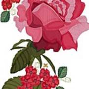 Rad Pink And Red Rose Art Print