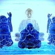 Radiant Buddhas Art Print