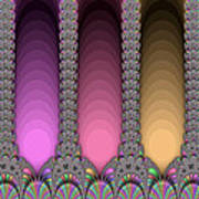 Radiant Columns Art Print