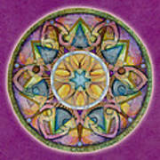 Radiant Health Mandala Art Print