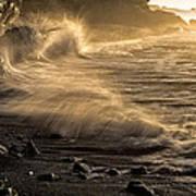 Radiant Sunrise Surf Art Print