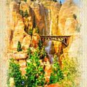 Radiator Springs Waterfall Art Print