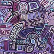 Radio Active Art Print