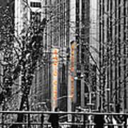 Radio City At Christmas - Black And White Art Print