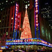 Radio City At Christmas Time - Holiday And Christmas Card Art Print