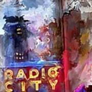 Radio City New York Art Print