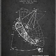 Radio Telescope Patent From 1968 - Charcoal Art Print