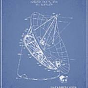 Radio Telescope Patent From 1968 - Light Blue Art Print