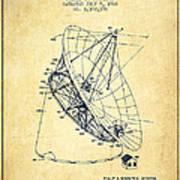 Radio Telescope Patent From 1968 - Vintage Art Print